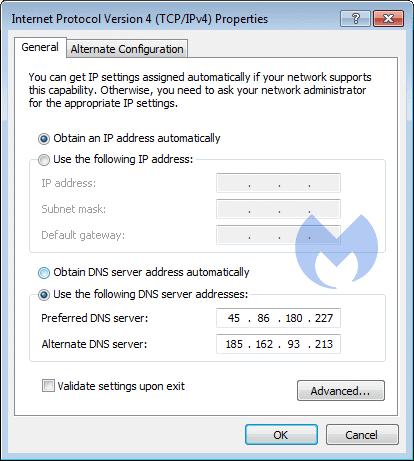 General DNS settings